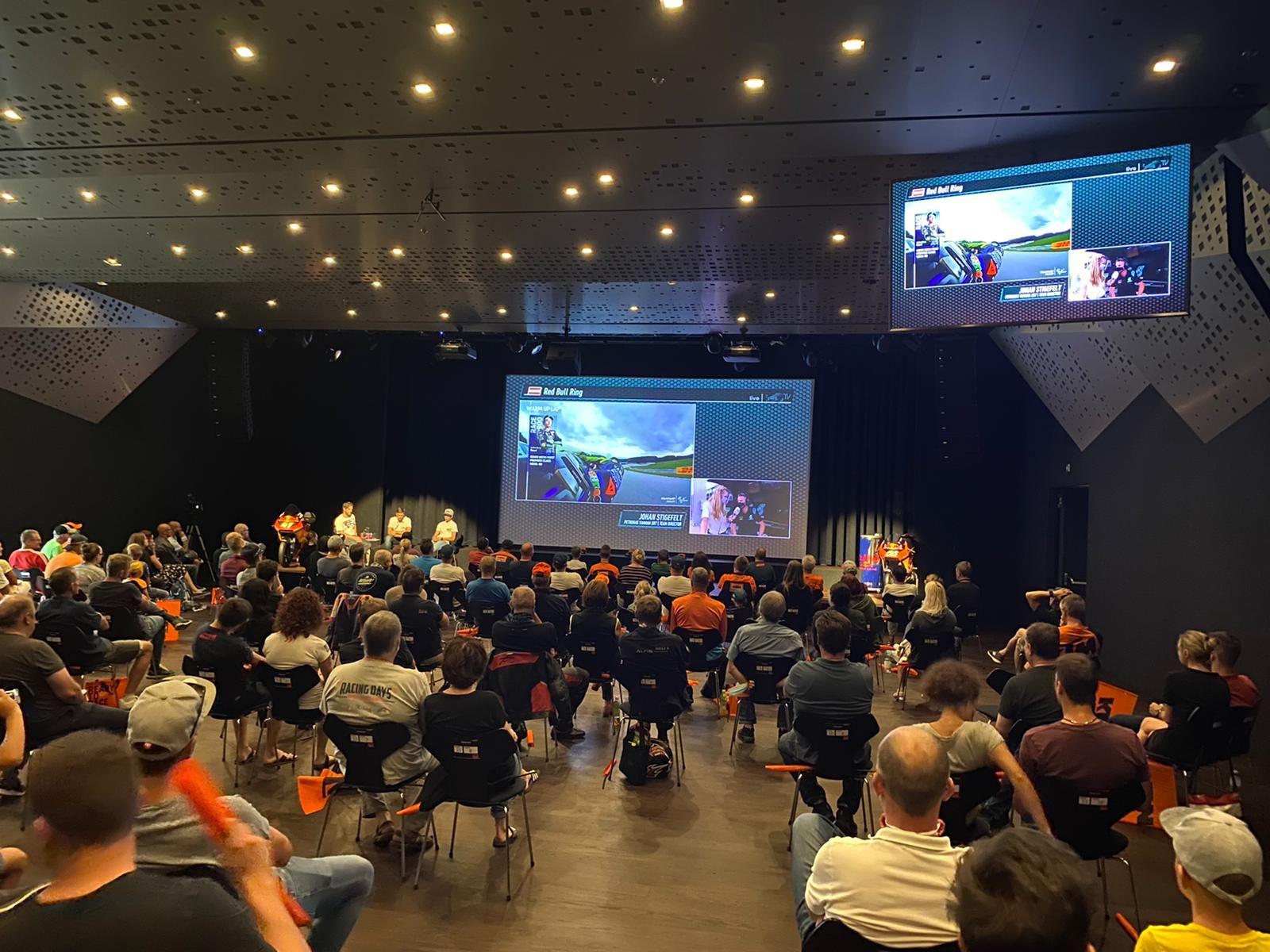 Read more about the article 23. August 2020 Moto GP Spielberg Steiermark GP Public Viewing KTM Motohall Mattighofen Österreich